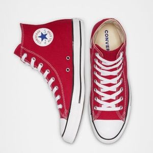 Red all star converse (Hightop)